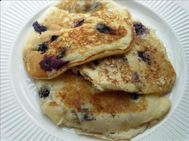 Blueberry Blueberry Sour Cream Pancakes