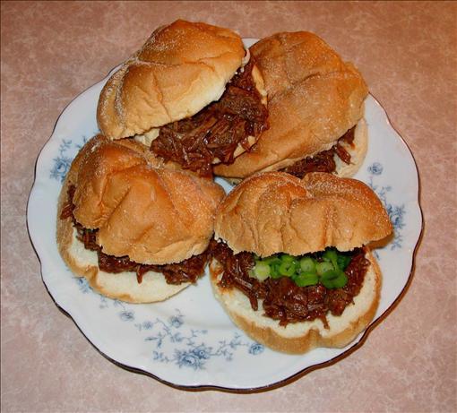 Half-Time Shredded Beef Sandwiches