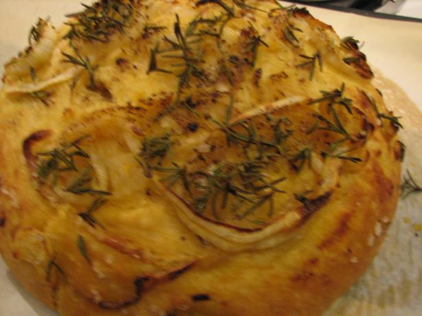Onion and Rosemary Focaccia (No-Knead)