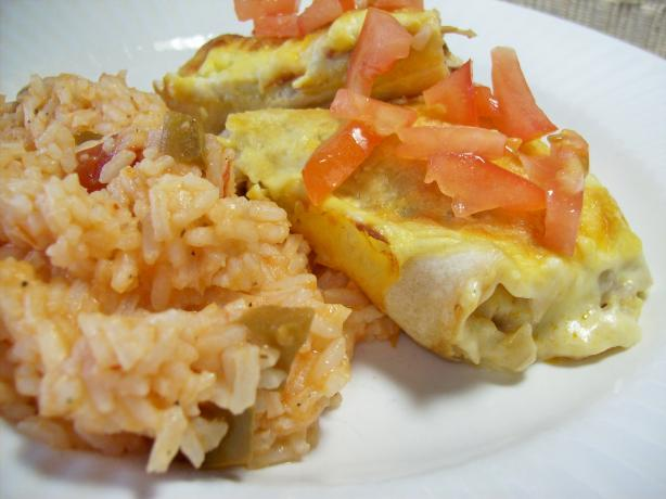Speedy White Chicken Enchiladas