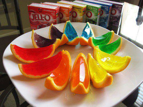 Jello Fruit Wedges