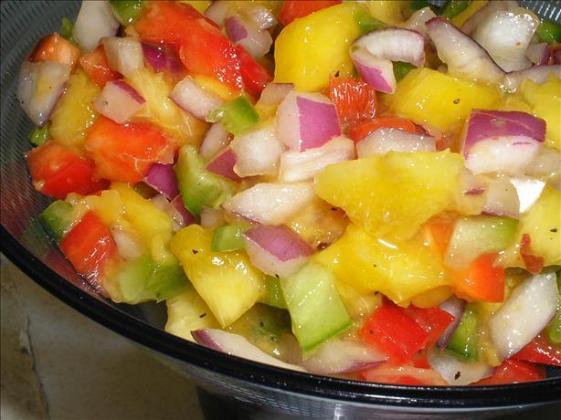 Peachy Mango Salsa