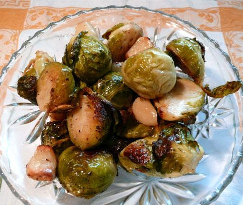 Roasted Brussels Sprouts and Garlic