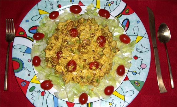 Curried Chicken Salad (Salad or Sandwich)