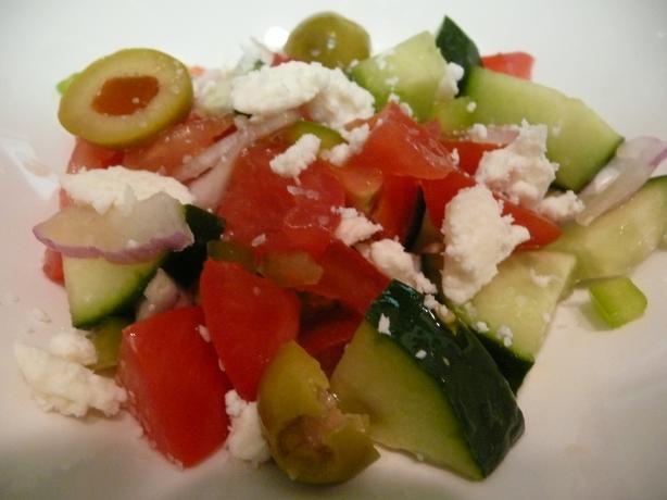 Albanian Tomato Cucumber Salad