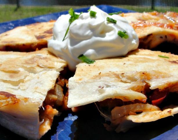 Forevermama's Spicy Chicken Quesadillas or Burritos