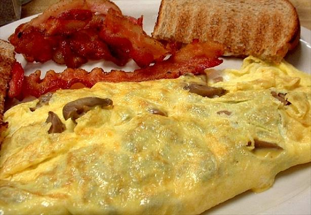Mushroom and Gruyere Cheese Omelet