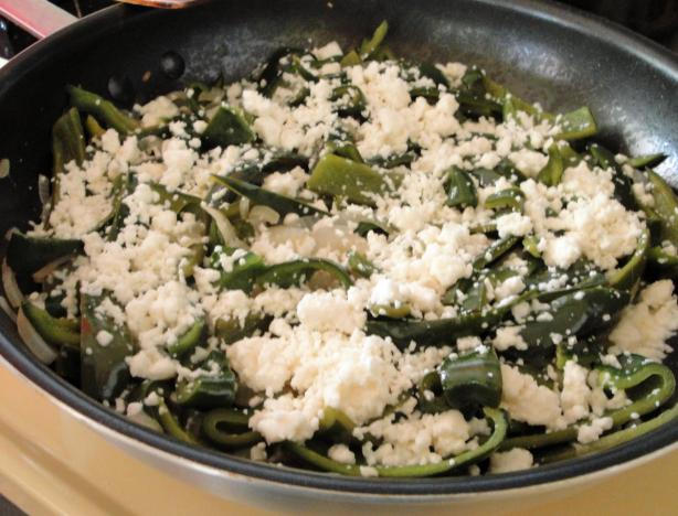 Rajas Con Cerveza (Pepper Strips With Beer and Cheese)
