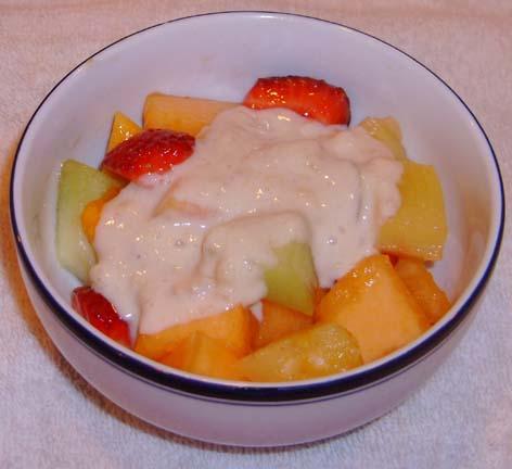 Hawaiian Fruit Salad With Banana Dressing