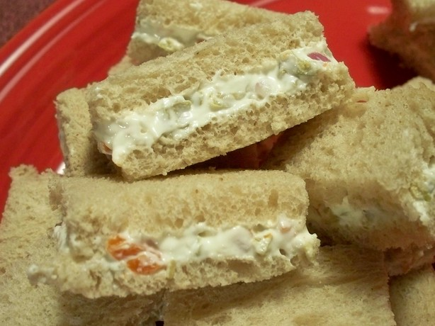 Cream Cheese and Olive Party Sandwiches