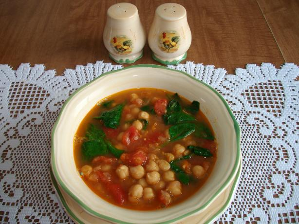 Moroccan Spiced Chickpea Soup