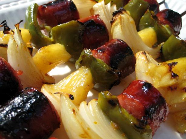 Sweet and Sour Kielbasa Kabobs
