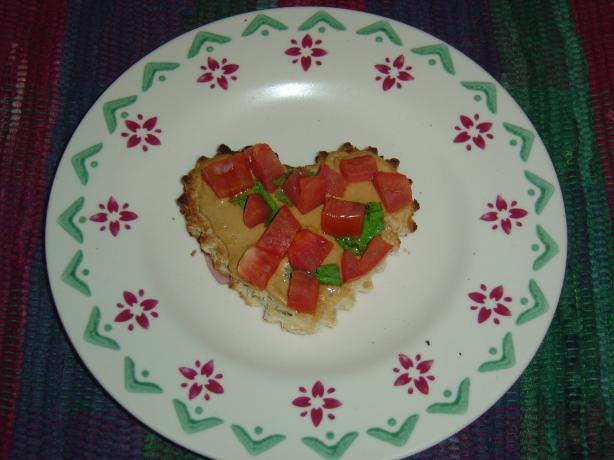 Tomato Open Sandwiches with Peanut Butter