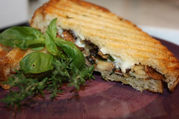 Grilled Wild Mushroom and Brie Cheese Sandwich