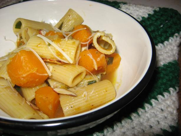 Pasta With Butternut Squash and Sage (Weight Watchers' Friendly)