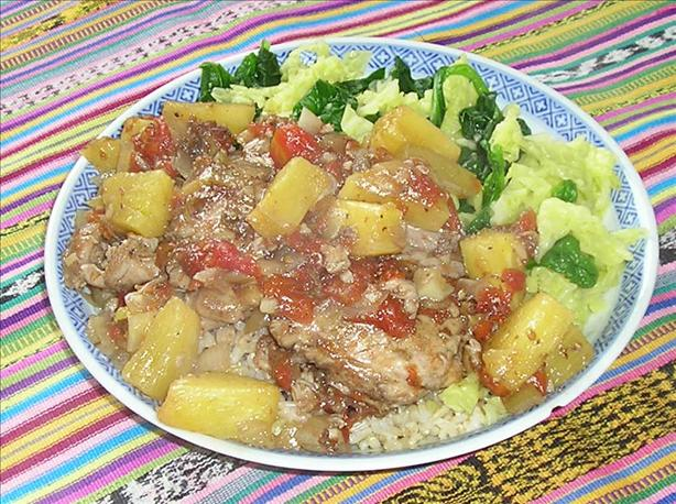 Guatemalan Chicken with Pineapple (Pollo en Pina)