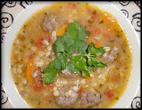 Barley Albondigas (Meatball) Soup