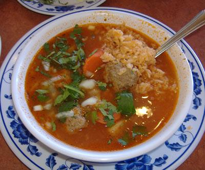 Mexican Meatball Soup - Albondigas