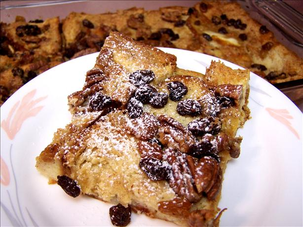 Amaretto Raisin Oven-Baked French Toast
