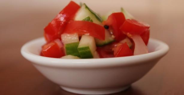 Ethiopian Tomato & Cucumber Salad