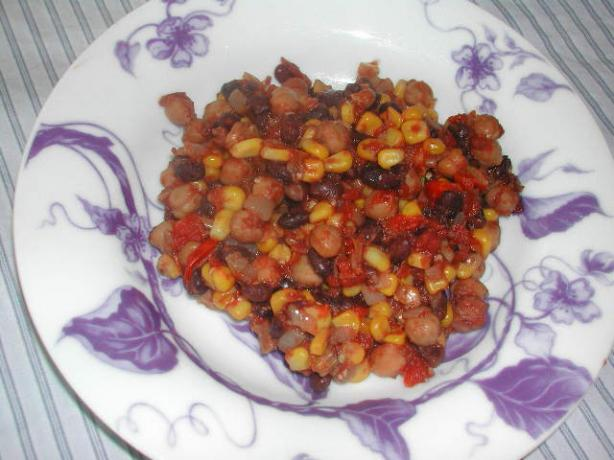 Tia's Spicy Bean Stew