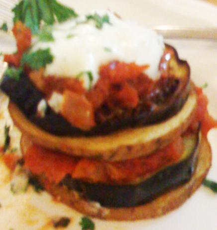 Turkish Eggplant and Potato Kizartma With Tomato Iskender Sauce