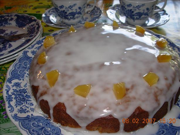 English High Tea Preserved Ginger Drizzle Cake