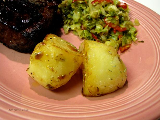 Fondant Potatoes With Garlic (Fondant De Pommes De Terre)