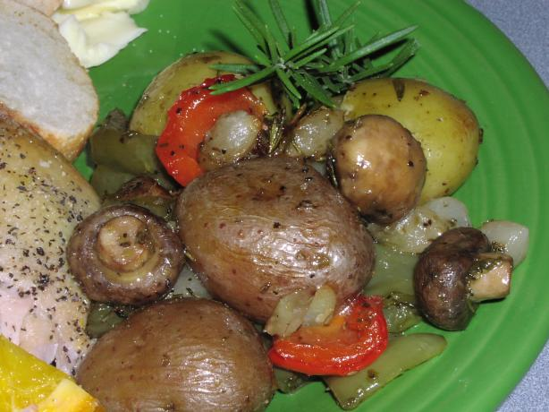 Roasted Baby Potatoes and Vegetables