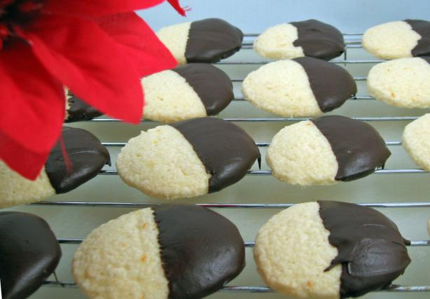 Chocolate-Dipped Orange Cookies