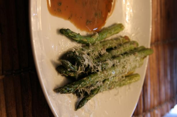 Roasted Asparagus with Brown Butter and Pecorino