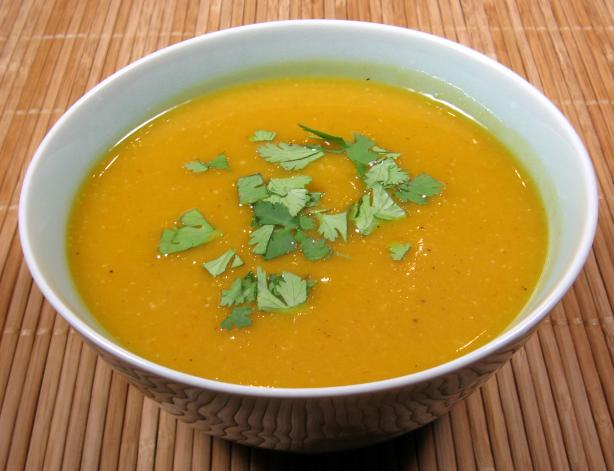 Autumn Gold Butternut Squash Soup - With Thai Inspired Flavors