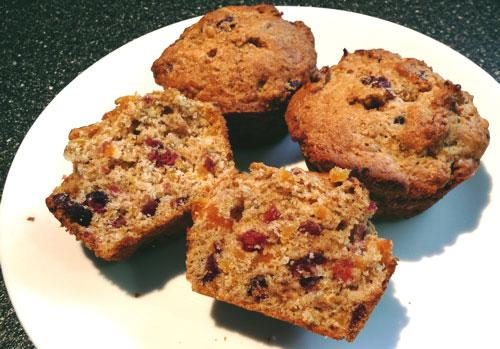 Orange Muffins With Apricots & Cranberries