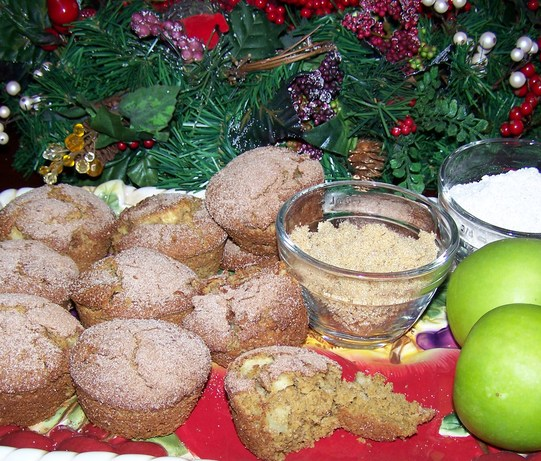 Whole Grain (Or Not) Apple Buttermilk Muffins