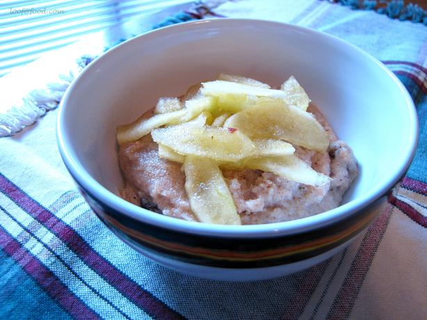 Chai Semolina With Honey Apples