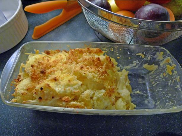 Cauliflower Pasta and Cheese Gratin