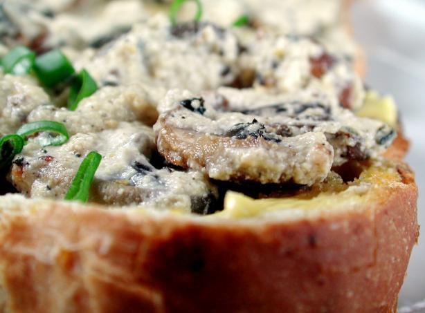 Mushroom Stroganoff on Toast
