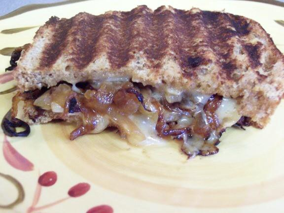 Grilled Gruyere and Sweet Onion Sandwiches.