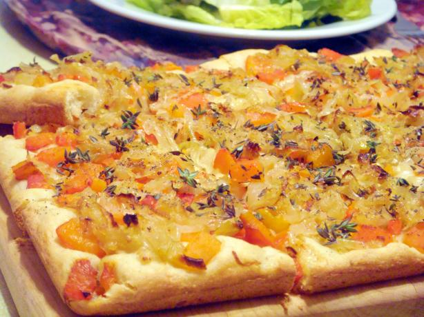 Caramelized Onion and Roasted Red Pepper Tart