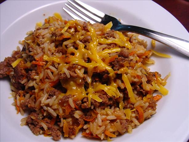 Cheesy Beef and Rice Bake