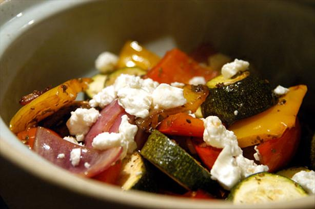 Roasted Vegetables and Feta