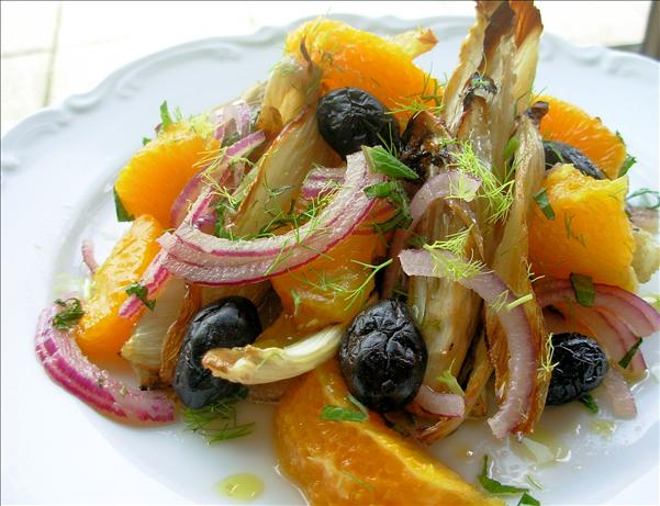 Spanish Charred Fennel, Orange and Olive Salad