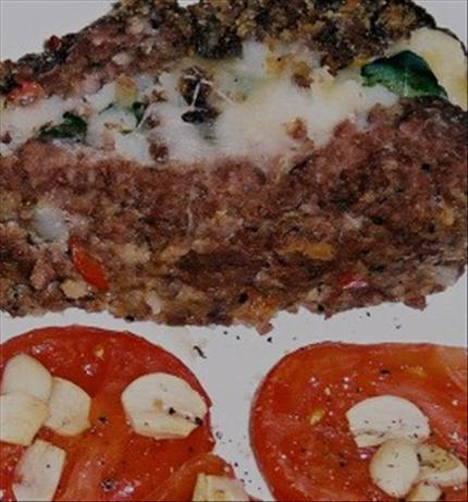 Italian Layered Meat-and-potato Loaf With Roasted Tomatoes