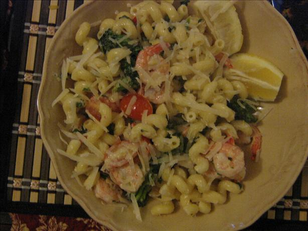Lemon Cream Shrimp and Pasta
