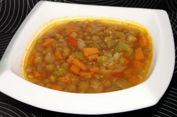 Ina Garten's Lentil Vegetable Soup(Vegetarianized)