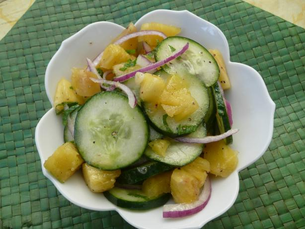 Cucumber and Pineapple Salad With Mint