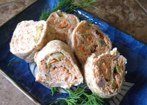 Smoked Salmon Roll-Ups
