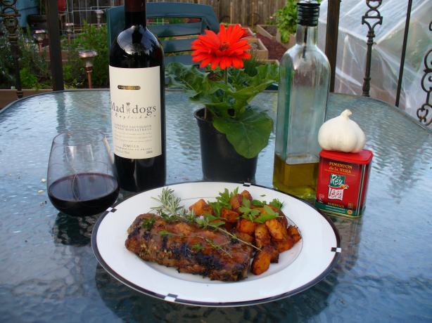 Grilled Porterhouse Steak With Paprika-Parmesan Butter