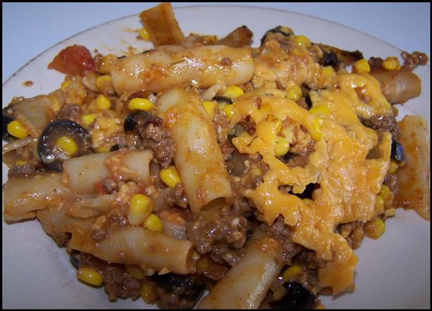 Pasta Chicken Taco Bake