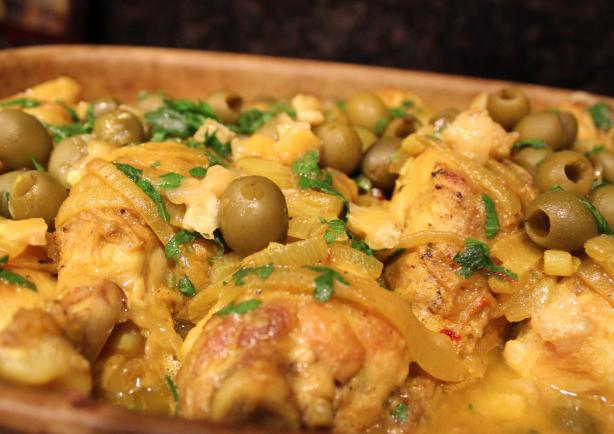 Chicken, Olive and Lemon Tangine